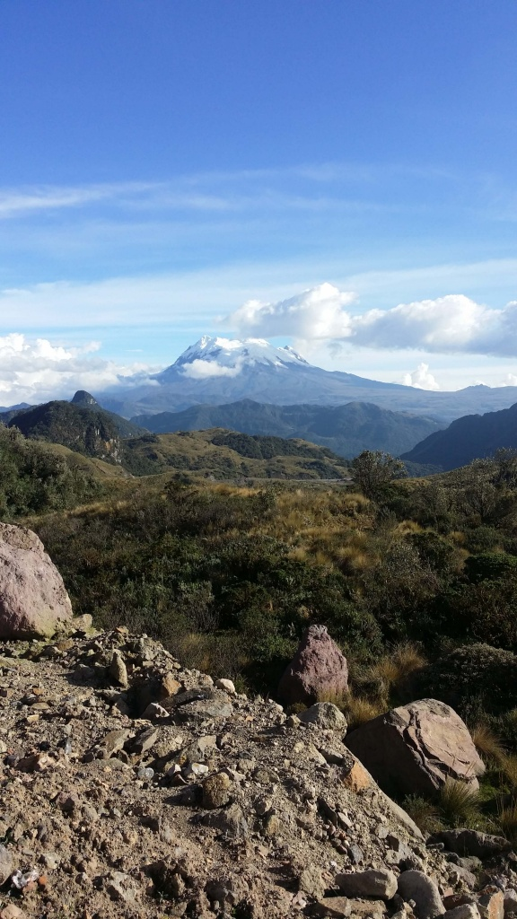 Volcanoes all around in Ecuador! Photo: V