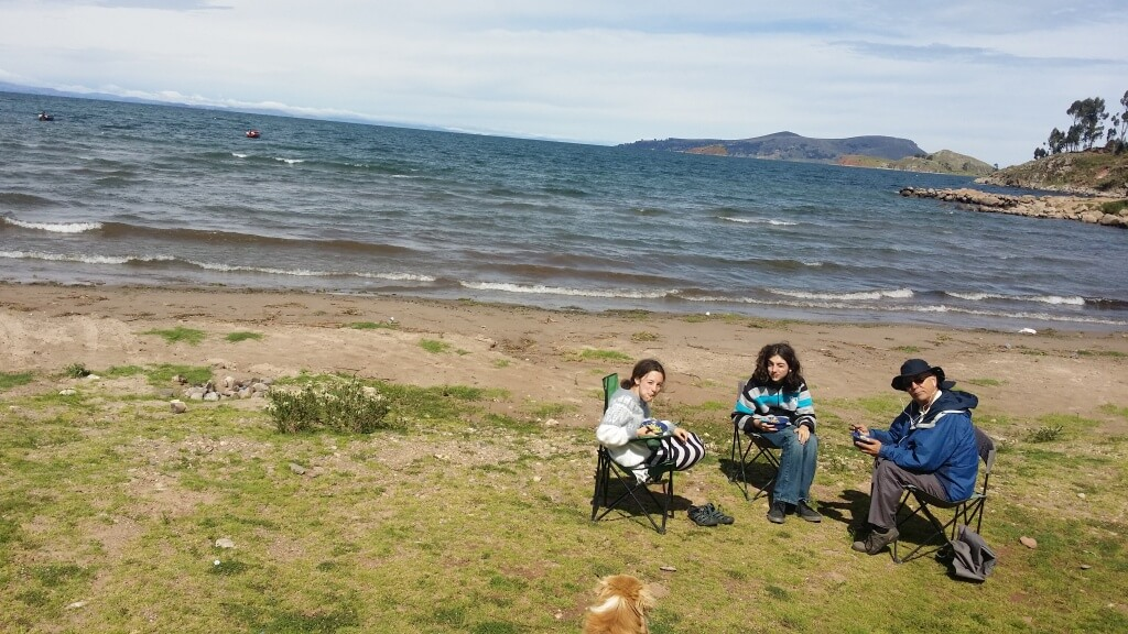 Picnic at Lake Titicaca. Photo: V
