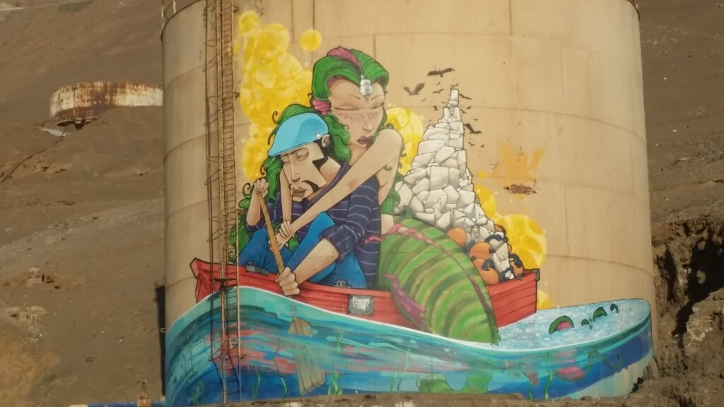 Beautiful old buildings, fisherman and murals, many, many murals. Photo: Amelia