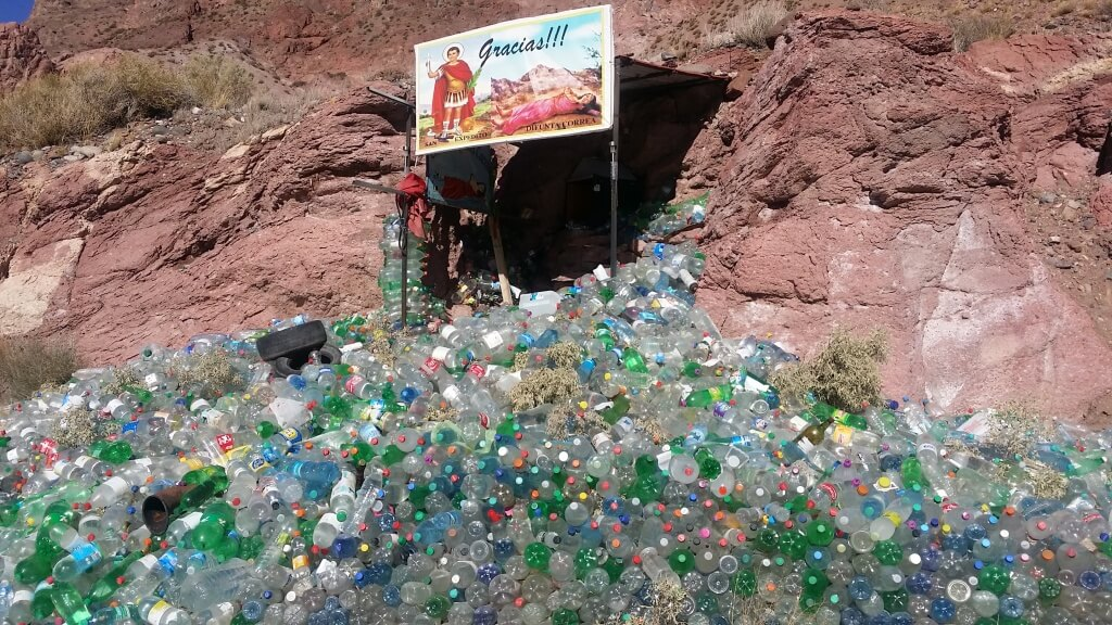 One of MANY Difunta Correa altars we saw on the side of the road. Photo: V