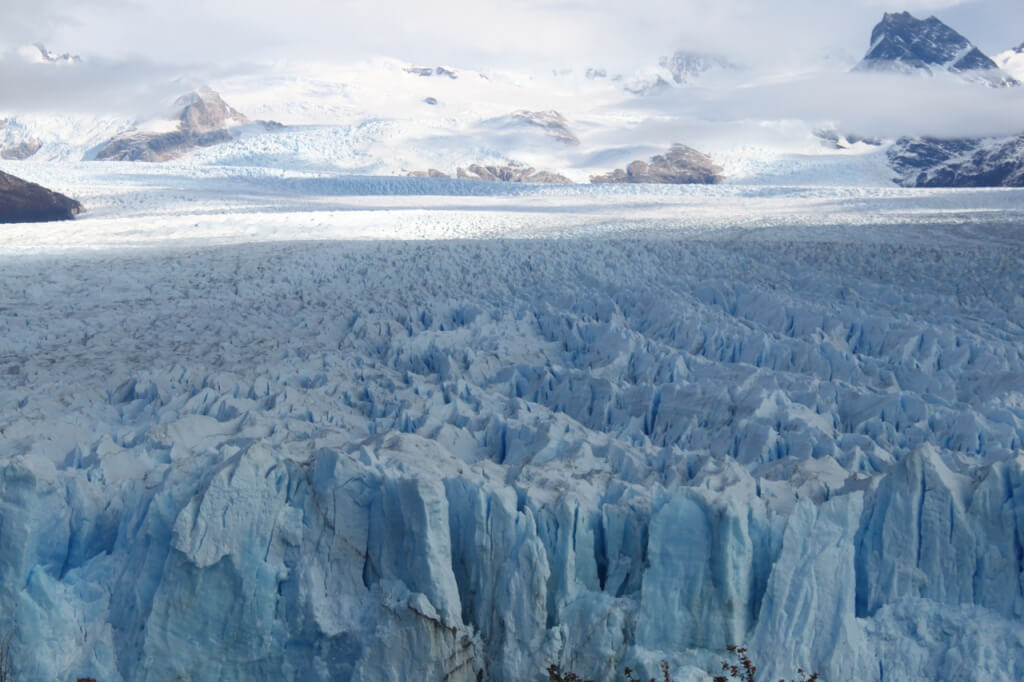 Perito Moreno's length. Photo: Amelia