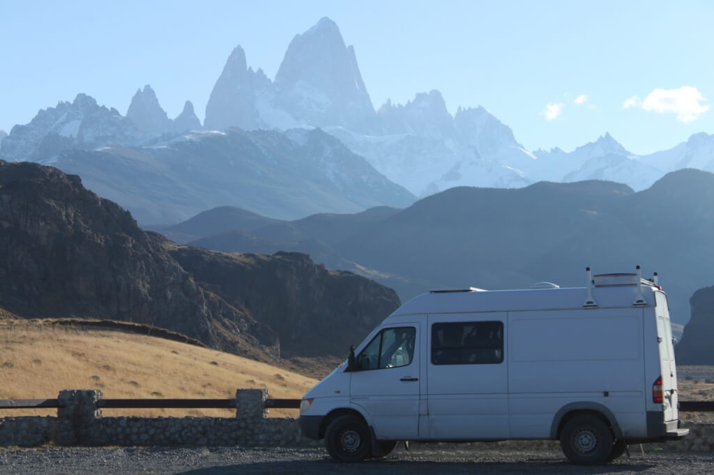 Mt. Fitz Roy and Cosmo. Photo: Nate