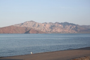 Bahia de Los Angeles at the end of the day.  Photo by Nate