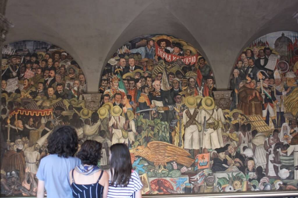 Part of Diego Rivera's mural. Photo: Nate