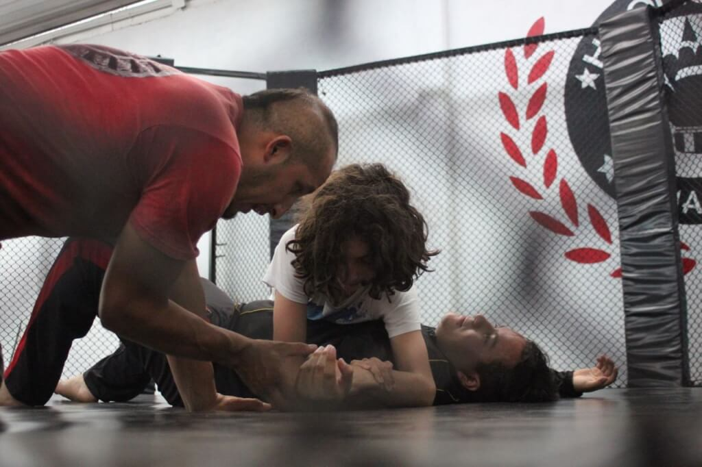 Benjamin tries MMA. See more photos in the media section of our blog. Photo:
