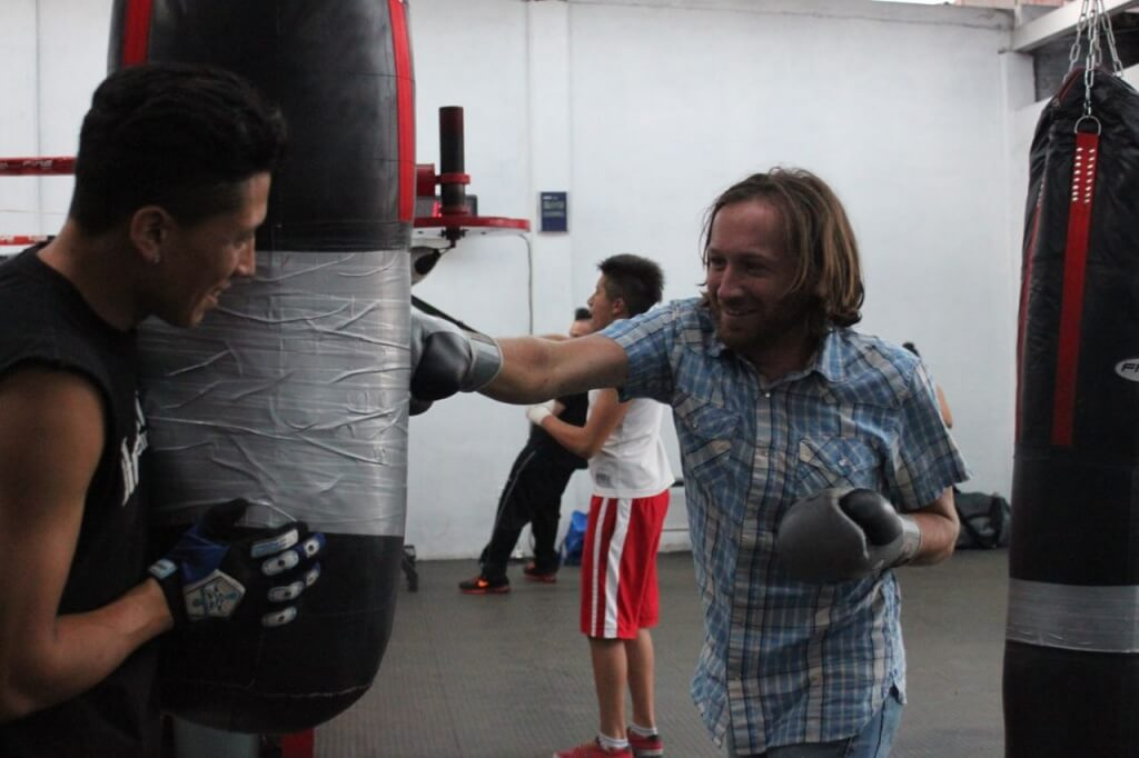 "Training with Reyes ""Rey"" Sanchez, boxer. Photo: V"