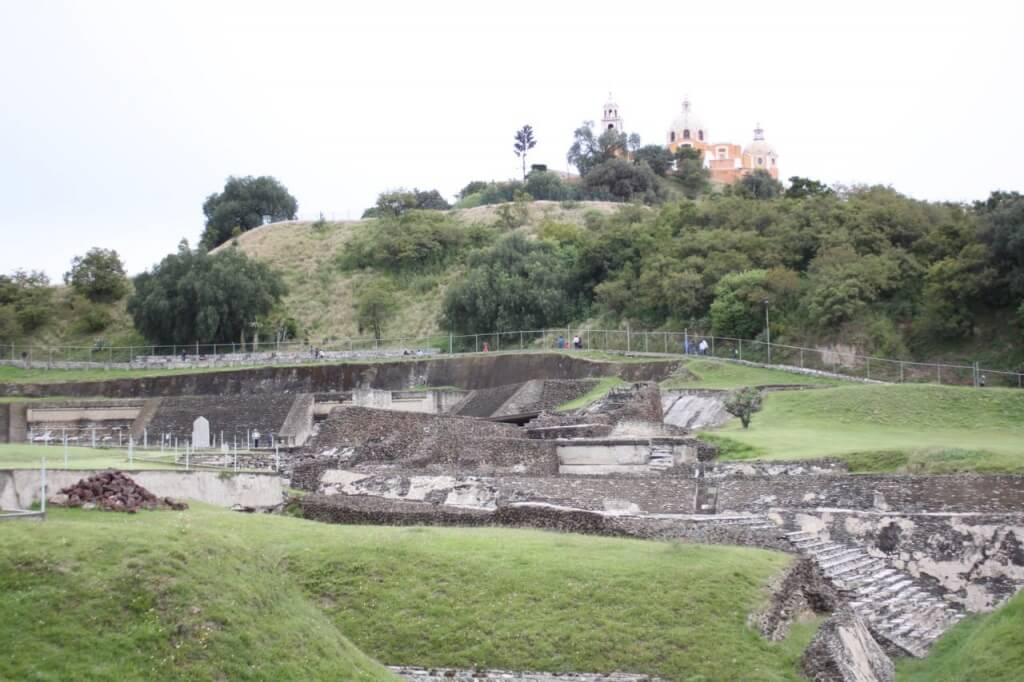 Spanish church atop a pyramid in Cholula.  Photo-Nate