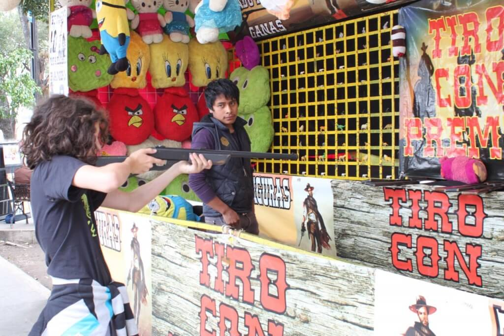 Benjamin at the carnival in Cholula.  Photo - Nate
