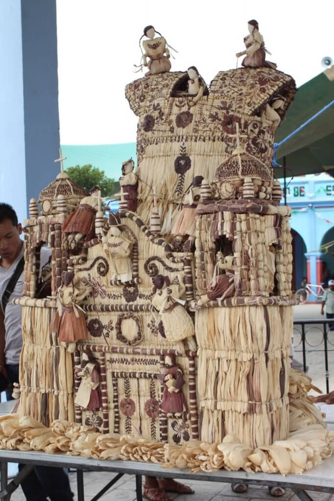 Artwork made from corn husk. Photo - Victoria