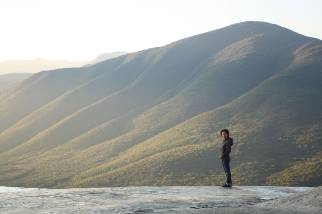 V at Hierve el Agua.  Photo - Nate