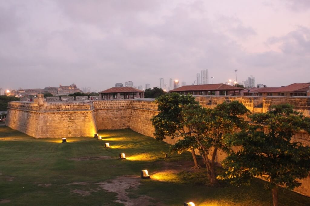 The wall surrounding old Cartagena. Photo by Nate