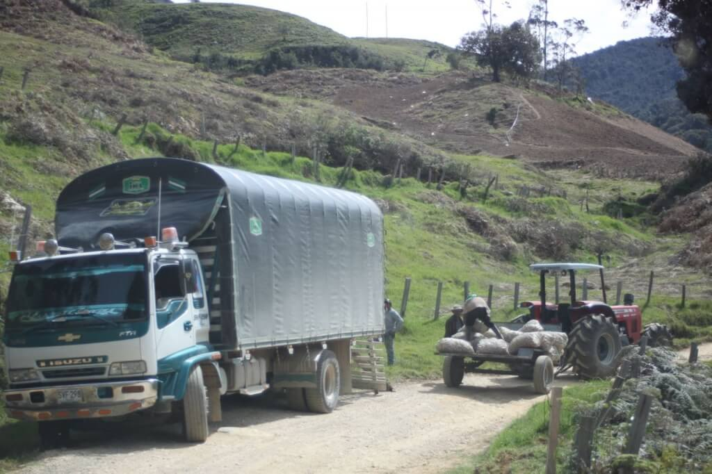 Potato farmers on the way to Cocuy.  Photo by V.