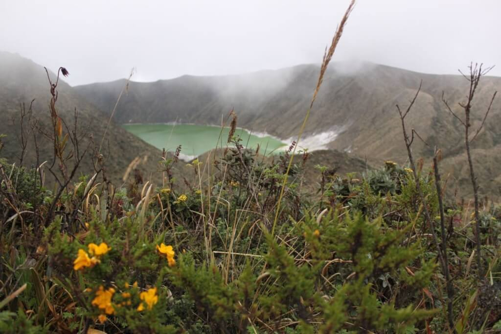 Sulfuric smelling Laguna Verde in the Volcan Azufral. Photo by Nate