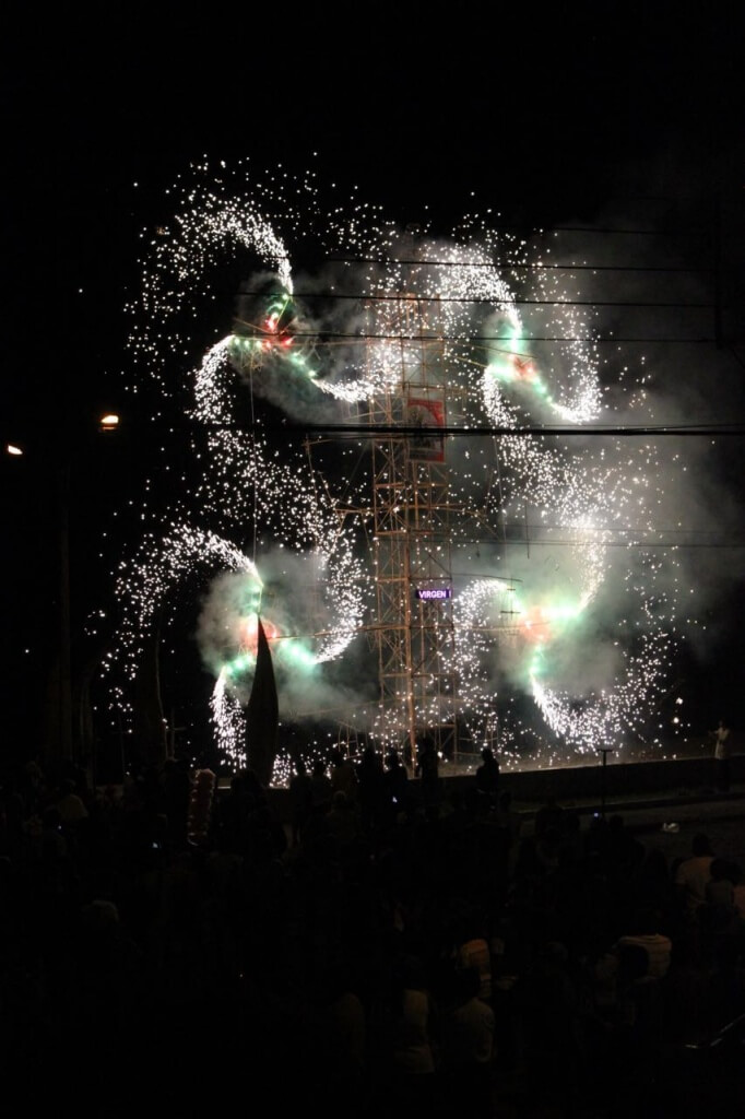 And the fireworks for Virgin Mary begin! Photo: Nate