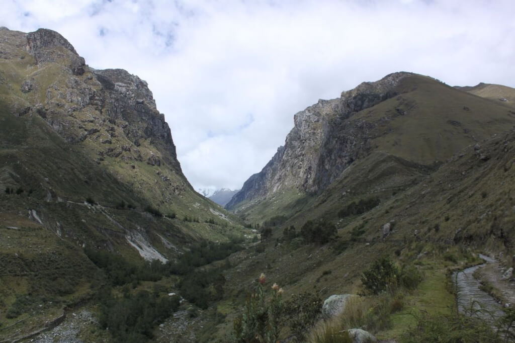 A nice little hike along the community's canal into the Cordillera Blanca. Photo by Nate