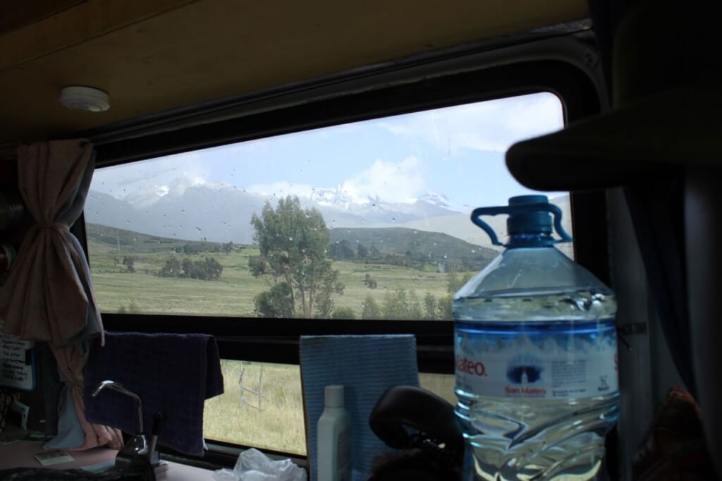 The view from our van at Hostel Hof. Photo by Nate
