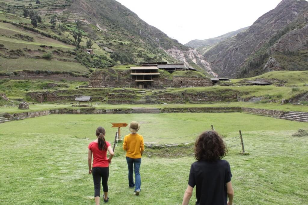 Walking onto the main plaza at Chavin de Huantar. Photo by Nate