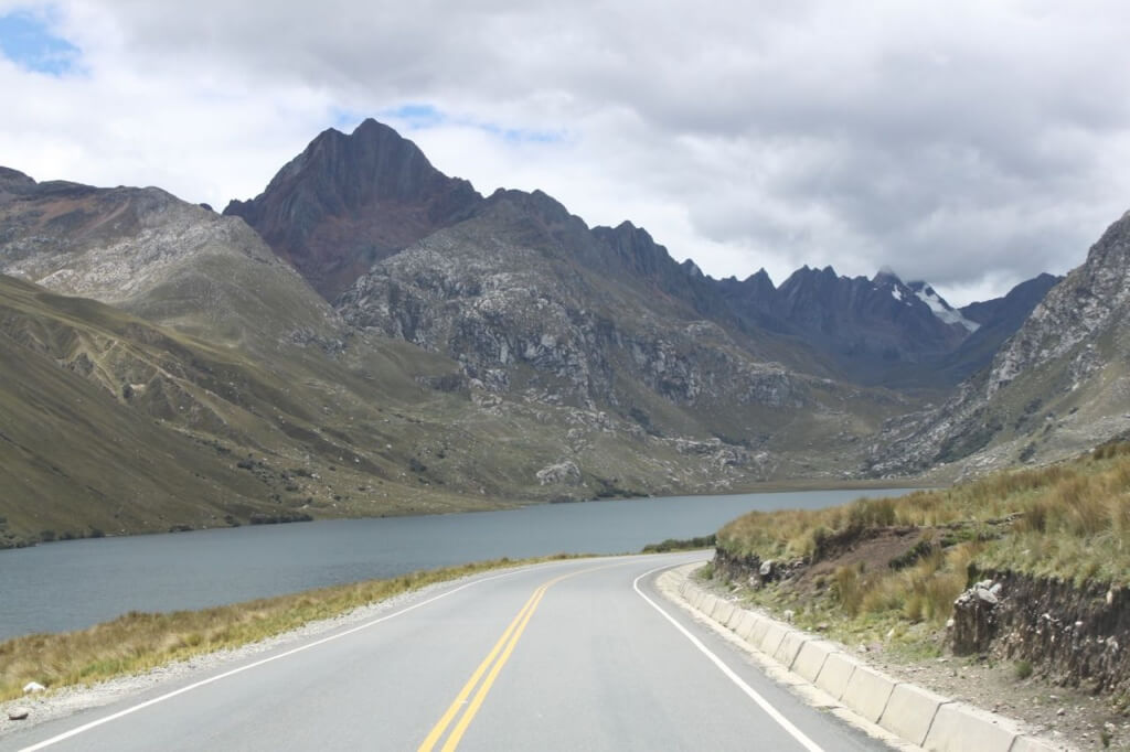 Driving over the Cordillera Blanca. Photo by Nate
