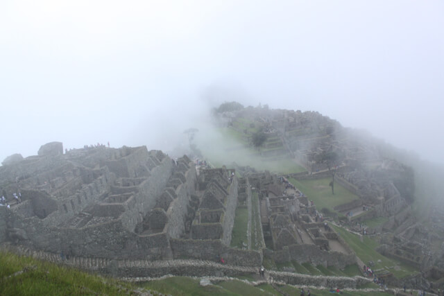 Machu Picchu when the fog finally cleared. Photo by Benjamin