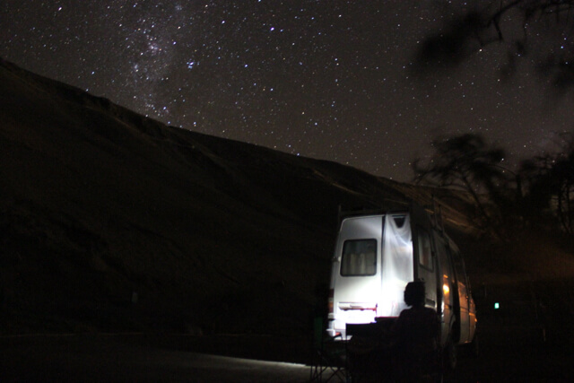 Van life at its best! Photo: Nate