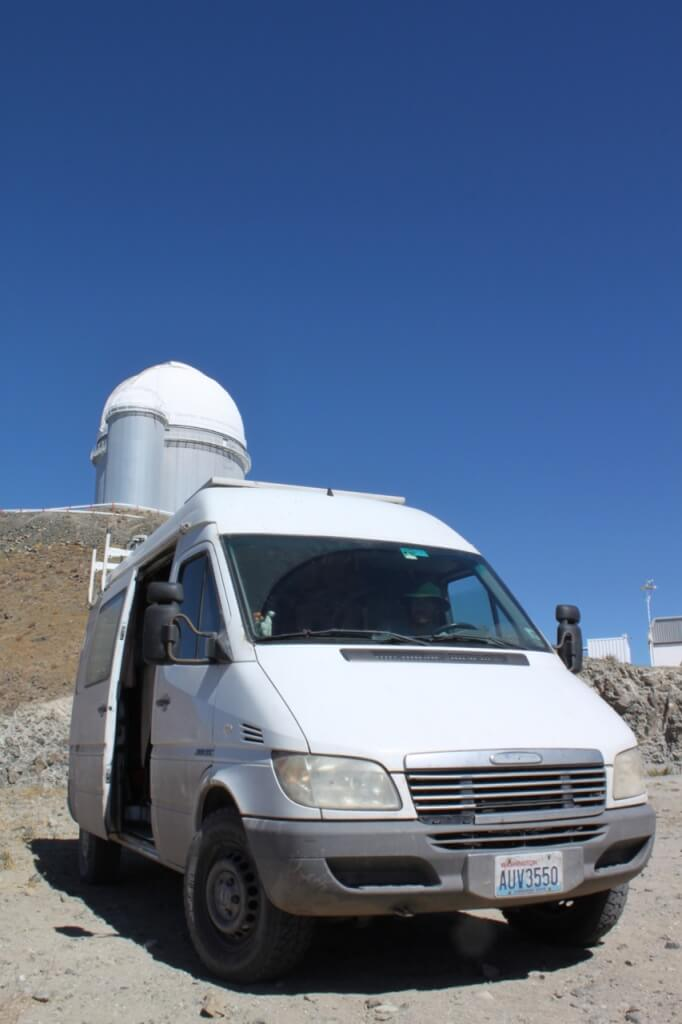Cosmo the cosmonaut at La Silla observatory.  Photo by V.