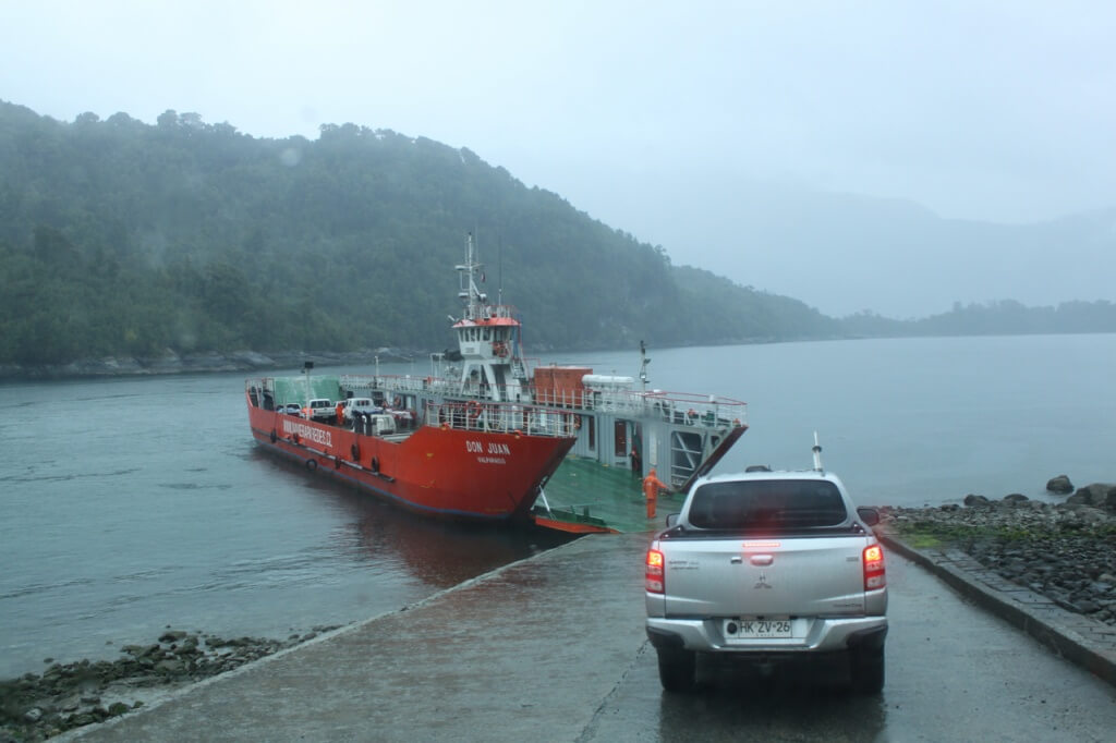 One of two ferry rides to Parque Pumalin. Photo: Nate